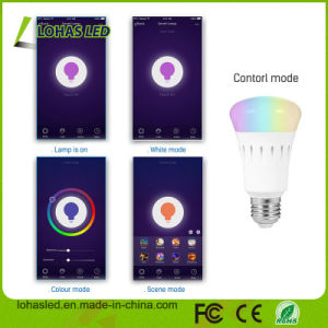 LED Lighting Smartphone Controlled Dimmable Multicolored Color Changing E27 9W RGB White APP WiFi Smart LED Bulb pictures & photos