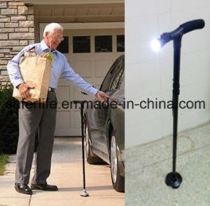 2017 New Product Saferlifer Red Aluminum Foldable Walking Cane with LED Light Walking Stick pictures & photos