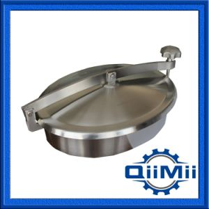 Sanitary Elliptical Stainless Steel 304 316L Oval Manhole Cover with Silicon pictures & photos