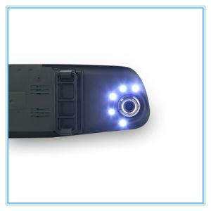 Night Vision Blue Rearview Mirror Auto Dashcam Video Recorder Car DVR pictures & photos