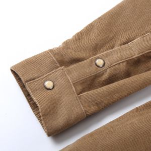 Factory Wholesale Mens Long Sleeve Corduroy Shirts pictures & photos