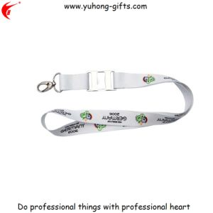 Screen Printed Logo Polyester Webbing Lanyard for Promotion (YH-L1241) pictures & photos