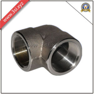 ASTM Black Steel A105 90 Degree Threaded Forged Elbow (YZF-E561) pictures & photos