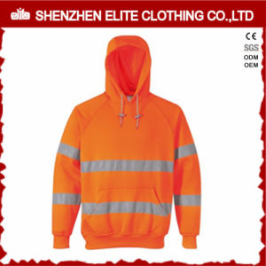 Custom 3m Reflective Fluo Orange Hi-Vis Hoodies (ELTHJC-390) pictures & photos
