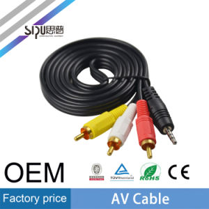 Sipu 3.5mm Stereo to 3RCA Adapter Audio Video AV Cable pictures & photos
