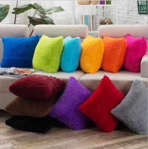 Fluffy Throw Pillow Cover for Home Sofa Bed Decoration (DPF107138) pictures & photos