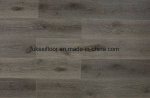 V Groove at Four Sides Synchronized Grain Laminae Flooring pictures & photos