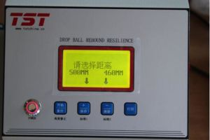 Foam Material Drop Ball Rebound Resilience Tester pictures & photos
