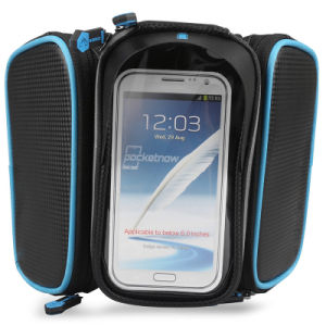 Cycling Pannier Waterproof Resistant Bike Bag 5.5 Inch Mobile Phone Screen Touch Holder pictures & photos