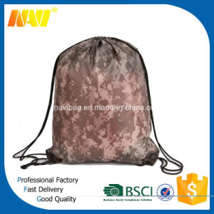 Cheap Polyester Camouflage Drawstring Backpack pictures & photos