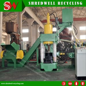 Hydraulic Metal Briquetting Press Machine for Iron Chips/Aluminum Turning/Copper Sawdust pictures & photos