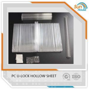 PC U-Lock Honeycomb Hollow Sheet Polycarbonate U Lock Sheets