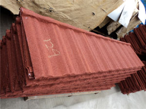 Red Classic PPGI PPGL Stone Coated Steel Sheet Roof Tile pictures & photos