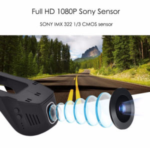 Hidden FHD 1080P WiFi APP Car DVR Dash Cam Night Vision Car Camera Black Box with Novatek 96658 Chip and Sony pictures & photos