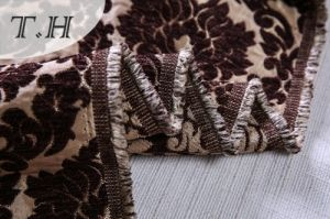 2017 Large Chenille Fabric Brown Flowers Made in Chinese Manufactory pictures & photos