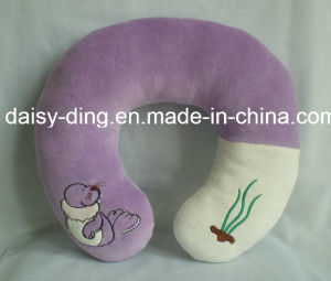 Plush Soft Neck Cushion with Emborider pictures & photos