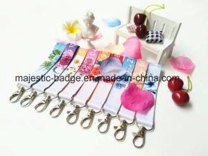 Heat Transfer Printing Ribbon Keychain (Hz 1001 C035) pictures & photos
