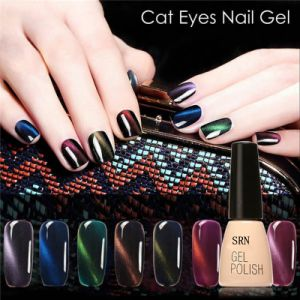 Srn Cat Eye Coat Magnetic UV/LED Soak off Gel Nail Polish 10ml pictures & photos