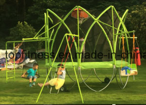 2017 Newest Kind Shape Round Spark Trampoline with Ensclosure pictures & photos