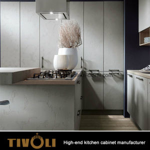 Best Design L Shape White Kitchen with Island (AP147) pictures & photos