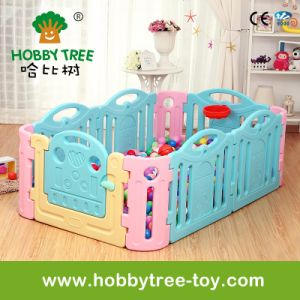 2017 Colorful Plastic Children Indoor Game Fence for Sale (HBS17045A)