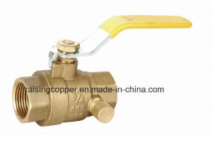 Brass Ball Valve with Side Drain pictures & photos