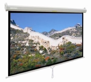 "70""X70""Manual Projection Screen with Auto-Lock System, China Projection Screen pictures & photos"