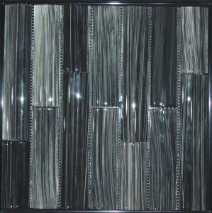 Hot Sale Handprinting Bamboo Series Black Glass Mosaic Tile pictures & photos