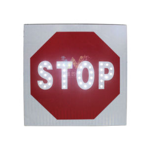 New Design Solar Power Stop Sign Board LED Traffic Sign pictures & photos