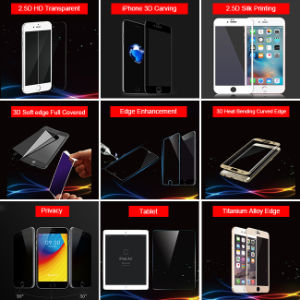 2.5D Silk Printing Explosion-Proof Tempered Glass Mobile Phone Film for iPhone Series pictures & photos