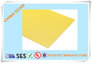 High Quality PVC Rigid Sheet Yellow for Price Tag Printing pictures & photos