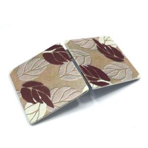 Decorating Beautiful Souvenir Folding PU Make up Mirror Cm-1126 pictures & photos