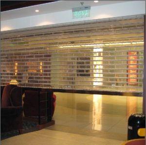 Commercial Transparent Plastic Curtain Polycarbonate Roller Shutter Panels Door (Hz-TD01) pictures & photos