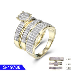 Wholesale New Model Fashion Jewelry 925 Sterling Silver Hip Hop CZ Ring for Wedding pictures & photos