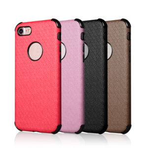 OEM Design Colorful TPU+PU Leather Back Cover Case for iPhone 6 Plus/I7/I6s pictures & photos