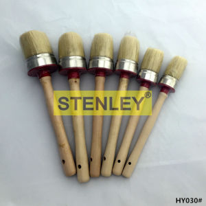 Round Brush China Factory Wooden Handle pictures & photos
