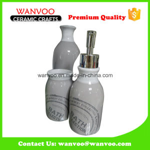 4PCS Gray Handprinting Bathroom Sanitary Fitting on Ceramic Material pictures & photos