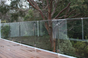 Commercial Glass Railing, Balustrade for Shopping Mart, Staircase Glass Railing pictures & photos