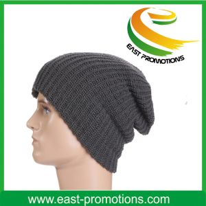 Custom Made Logo Embroidered Promotioanl Acrylic Knitted Beanie Hat pictures & photos