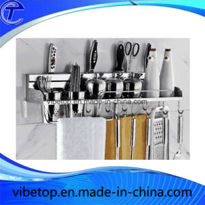 Stainless Steel Metal Kitchen Hanging Rack Storage Shelf pictures & photos
