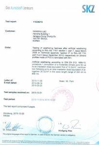 Certificate for Korea Laminated Film pictures & photos