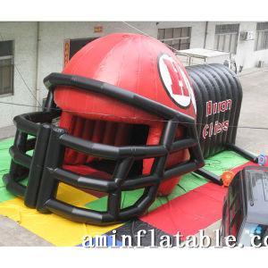 Balloon Type Inflatable Football Tunnel Inflatable Helmet Tunnel