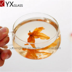 Elegant High Borosilicate Single/Double Wall Glass Coffee Cups Mini Glass Tea Cup and Saucer 220ml pictures & photos
