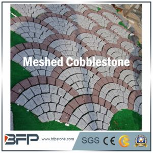 Grey Fanshaped Meshed Cobblestone for Landscape Paver and Tile pictures & photos