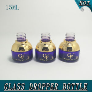 15ml 1/2oz Fancy Purple Glass Dropper Bottle with Pipettes pictures & photos