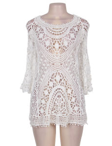 China 2017 Dropshipping Wholesale Knitted Hollow out Summer Beach Dress pictures & photos