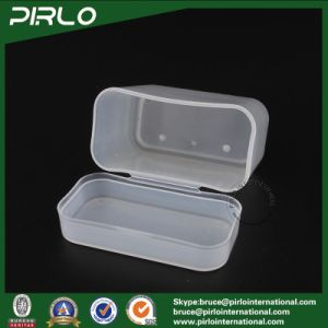 100g Translucent Color PP Plastic Square Shaped Box with Hing Lid Cotton Swab Box pictures & photos
