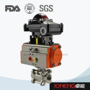 Stainless Steel Pneumatic Three Way Ball Valve with Limit Switch (JN-BLV2001) pictures & photos