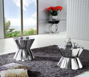Small Stainless Steel Lotus Coffee Table, Side Table, Classic Shape Coffee Table T-112 pictures & photos
