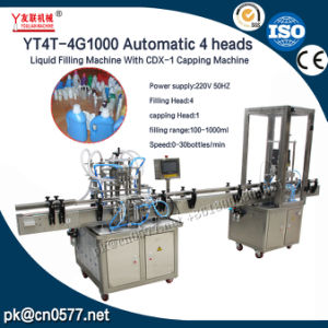 Automatic 4 Heads Liquid Filling Machine with Capping Machine Inline pictures & photos